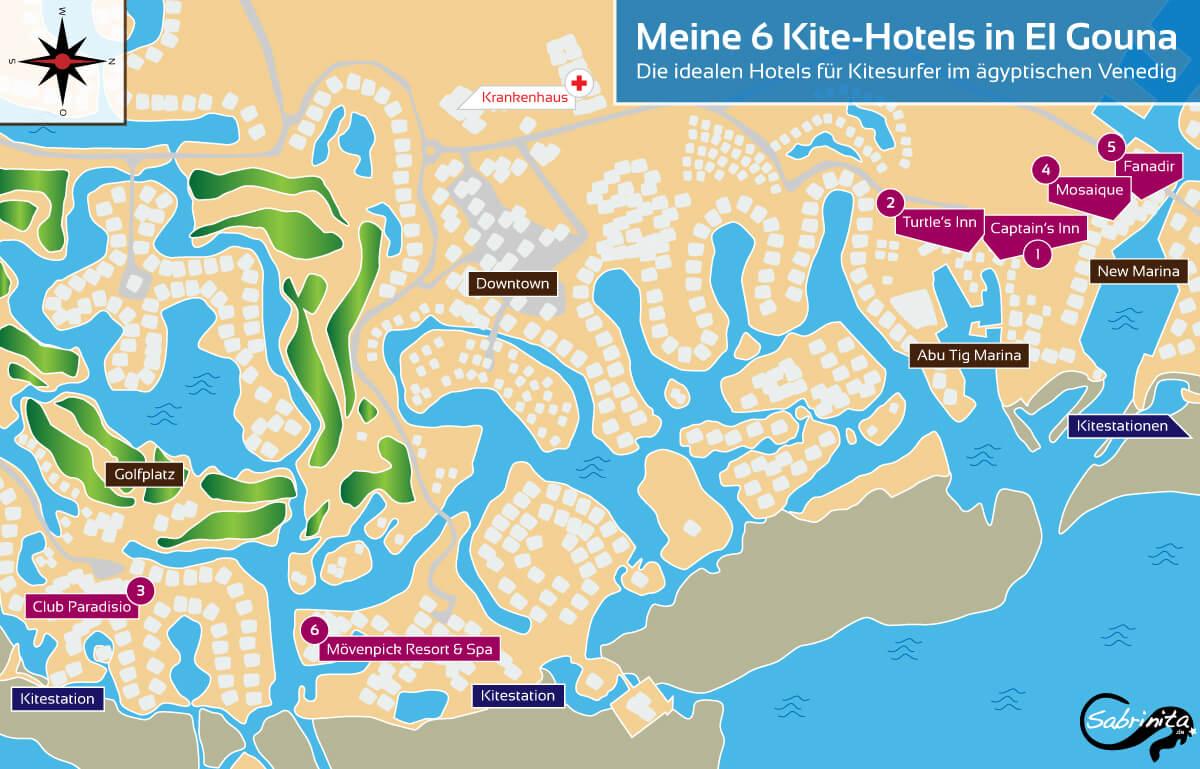 Meine Top 6 Kite Hotels Fur S Kitesurfen In El Gouna Einfach Kiten