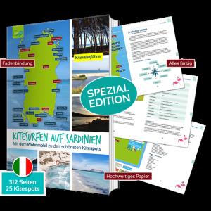 Kitereiseguide Sardinien mit 312 Seiten, 25 Kitespots