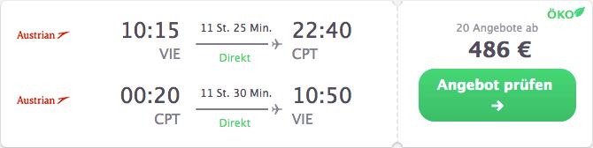 Reiseangebot Wien-Kapstadt