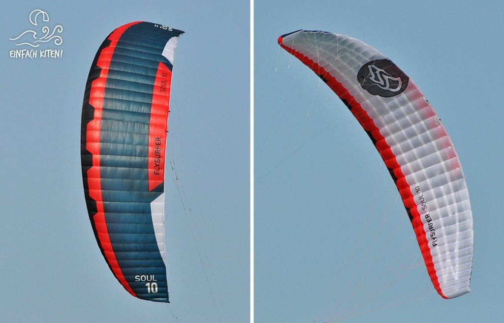 Flysurfer Soul 10 in der Luft im Detail