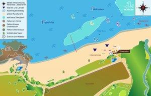 Kitespot Navarino Dunes Karte, Griechenland
