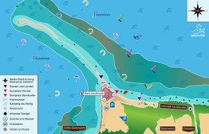 Kitespot Cape Drepano Karte, Griechenland