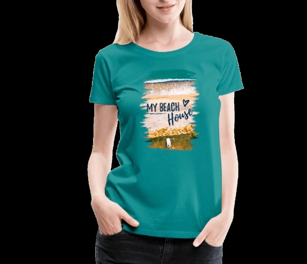 My Beach House - Frauen Premium T-Shirt