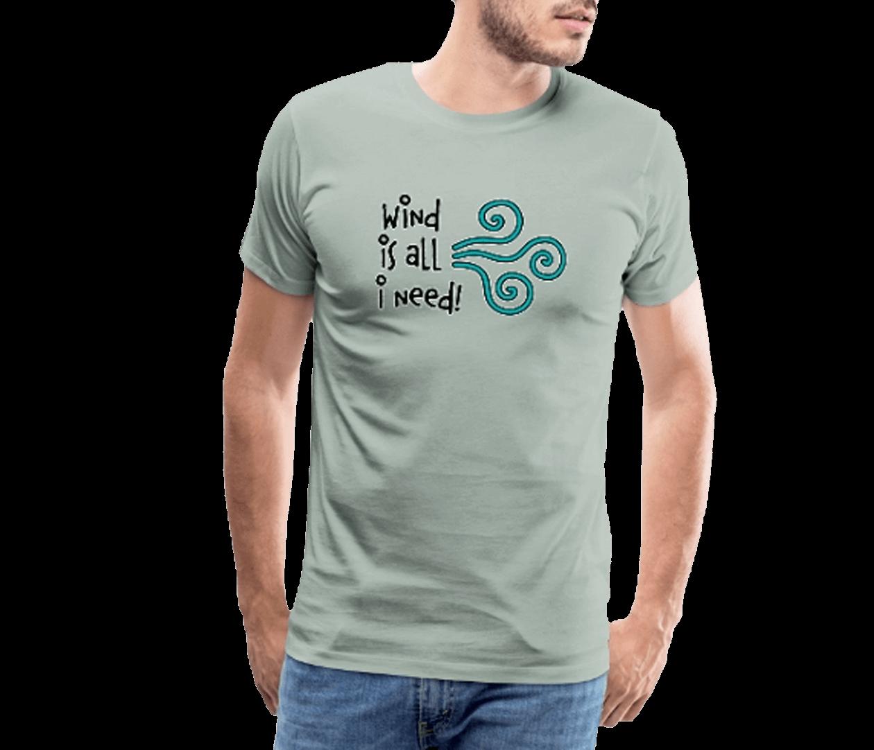 Wind is all - Männer Premium T-Shirt