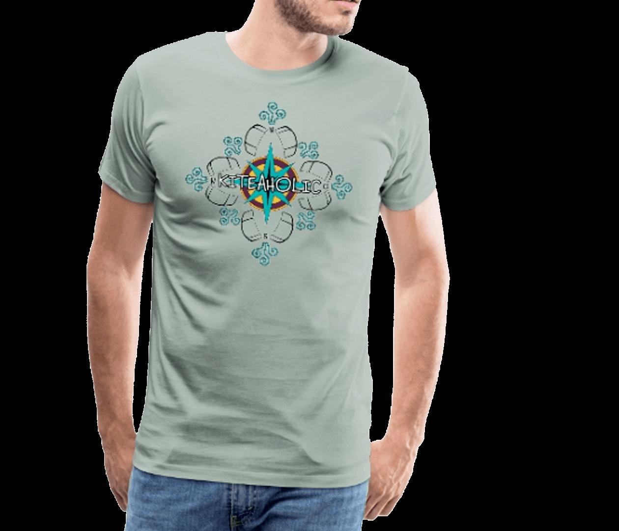 Windrose Kiteaholic - Männer Premium T-Shirt