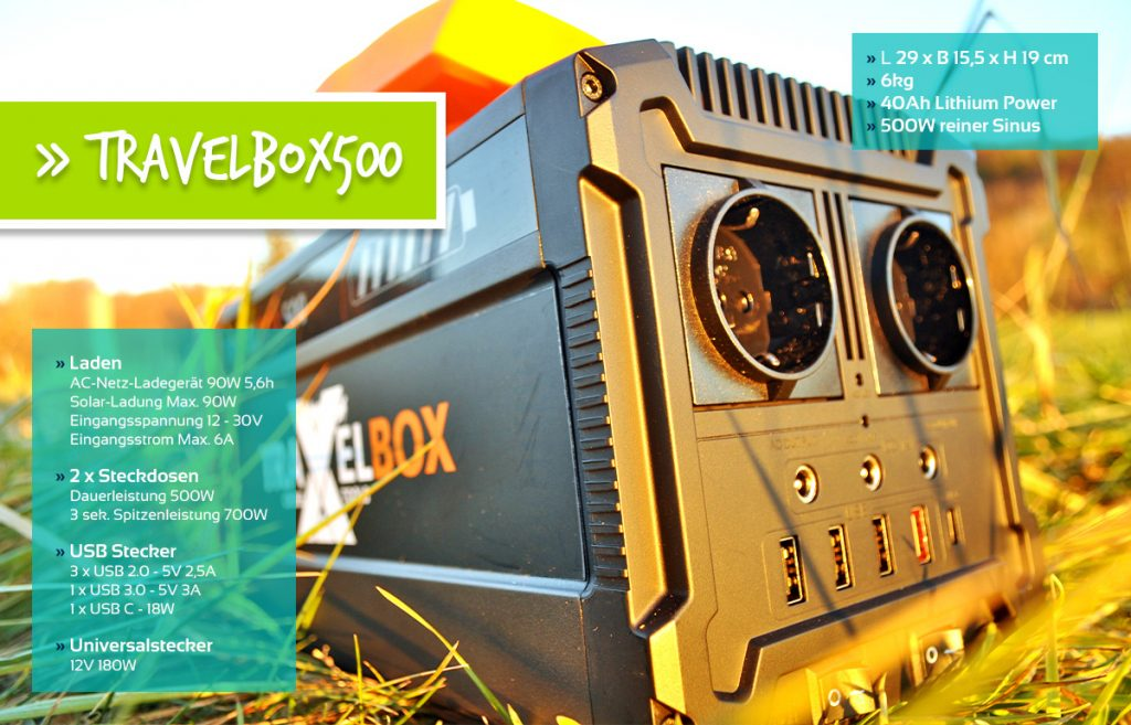 Die Mobile Stromversorgung Travebox500