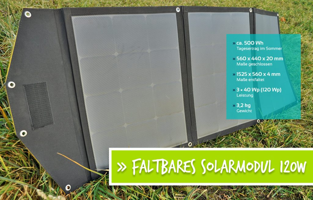 Faltbares Solarmodul 120W