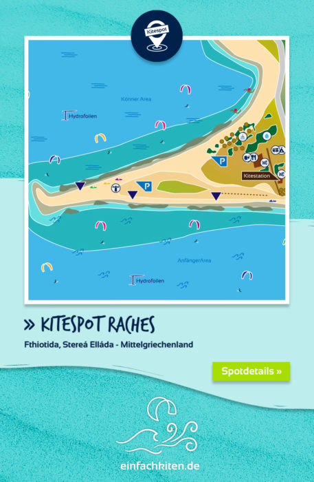 Kitespot Raches Karte, Griechenland einfachkiten